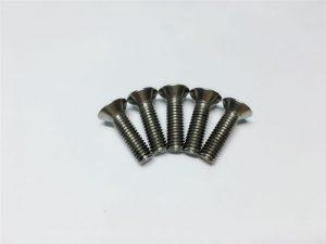 M3, M6 티타늄 나사 척추 수술 용 플랫 헤드 소켓 헤드 캡 티타늄 플랜지 나사