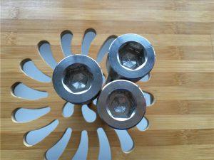 고품질 ASEM 육각 소켓 티타늄 gr2 나사 / 볼트 / 너트 / 와셔 /